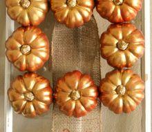 a metallic fall wreath, crafts, seasonal holiday decor, wreaths