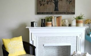 redoing a electric fireplace turning it bright and beautiful, diy, fireplaces mantels, home decor, living room ideas, painting, wall decor