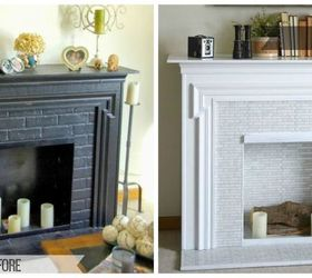 redoing a electric fireplace turning it bright and beautiful diy fireplaces mantels home - Electric Fireplace Mantels