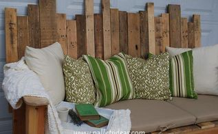 q i am looking for the schematics for the attached pallet couch please, diy, painted furniture, pallet, repurposing upcycling