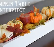 pumpkin table centerpiece, crafts, repurposing upcycling, seasonal holiday decor