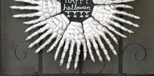 dollar store halloween wreath, crafts, halloween decorations, seasonal holiday decor, wreaths