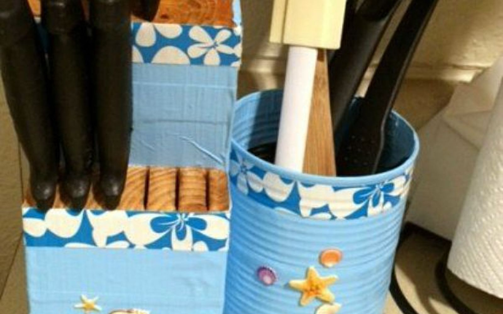 s 11 upcycles so simple you ll wonder why you ve never thought of them, crafts, repurposing upcycling, Organize Your Kitchen With Cans