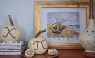 nail head pumpkins, crafts, repurposing upcycling, seasonal holiday decor