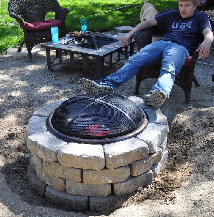 Great Bbq Pit Set Up For The Backyard Perfect Under The: From The Scrap Pile - Small Tiled Table