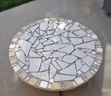 from the scrape pile small tiled table, concrete masonry, diy, outdoor furniture, tiling