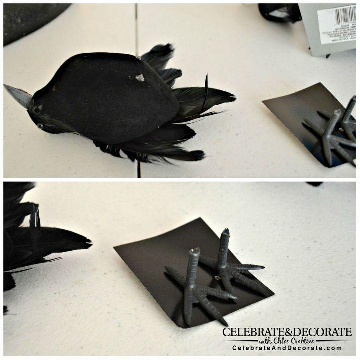 create a halloween wreath with creepy crows crafts halloween decorations seasonal holiday decor - Halloween Crows