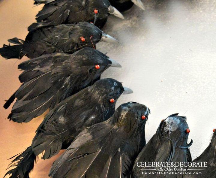 create a halloween wreath with creepy crows crafts halloween decorations seasonal holiday decor - Halloween Crow Decorations