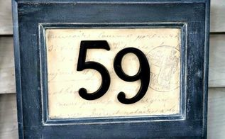 picture frame house numbers, crafts, curb appeal, repurposing upcycling
