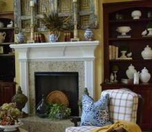 vintage fall mantel, fireplaces mantels, seasonal holiday decor