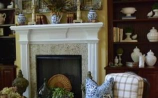 vintage fall mantel, fireplaces mantels, seasonal holiday decor