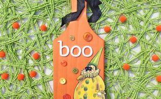 easy fun diy halloween plaque, crafts, halloween decorations, seasonal holiday decor