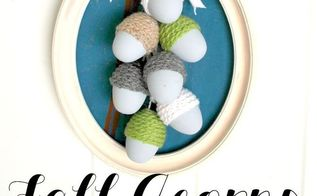 make fall acorns from plastic easter eggs, crafts, seasonal holiday decor