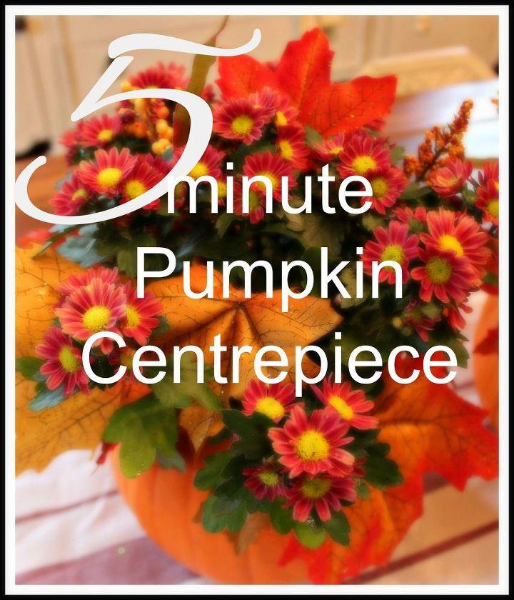 5 minute pumpkin centerpieces hometalk
