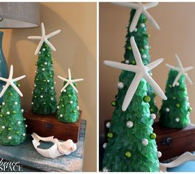 DIY Sea Glass Christmas Trees | Hometalk