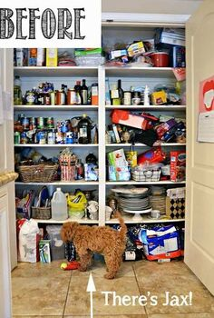pantry makeover before and after with my new favorite product, closet, kitchen design, organizing, storage ideas, BEFORE