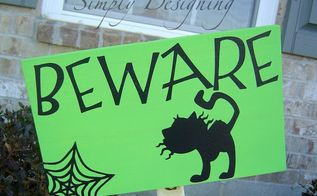 pottery barn inspired halloween signs, crafts, halloween decorations, seasonal holiday decor