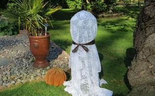 fun fast and easy solar halloween ghost, crafts, diy, halloween decorations, repurposing upcycling, seasonal holiday decor
