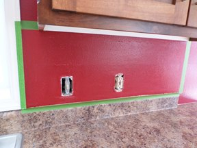 Faux Tile Backsplash With Paint Diy Kitchen Backsplash Kitchen Design Painting