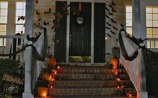birds have invaded for halloween, halloween decorations, seasonal holiday decor