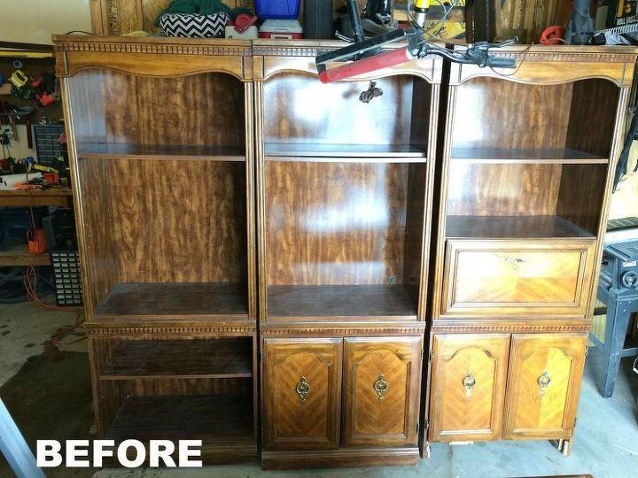 Craigslist Ivory Bookshelf Makeover Painted Furniture Shelving Ideas Storage