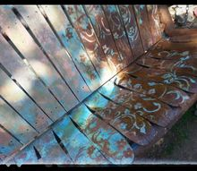 sk s old wood swing, outdoor furniture, painted furniture