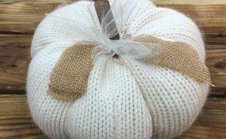 goodwill sweaters make fun fall home decor, crafts, repurposing upcycling, seasonal holiday decor