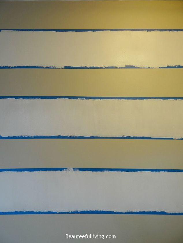 Wall Decor Horizontal : How to cheat painting horizontal stripes hometalk