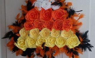 diy candy corn halloween door decor, crafts, halloween decorations, seasonal holiday decor