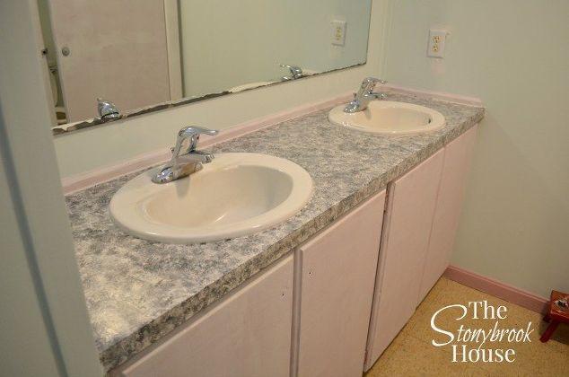 Simple Granite Countertops : easy faux granite countertops, bathroom ideas, countertops, diy ...