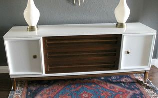 midcentury credenza refresh, painted furniture