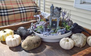 spooky succulent garden halloween, flowers, gardening, halloween decorations, seasonal holiday decor, succulents