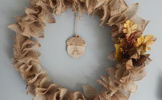 diy fall wreath, crafts, seasonal holiday decor, woodworking projects, wreaths