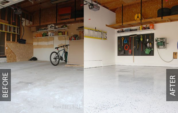 Diy Garage Floor Tutorial Rocksolid Polycuramine Hometalk