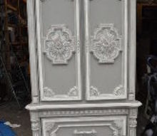 french country dreamy armoire, chalk paint, painted furniture