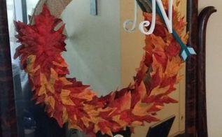 fall wreath, crafts, seasonal holiday decor, wreaths