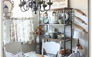 fall farmhouse style breakfast nook, home decor, kitchen design, seasonal holiday decor
