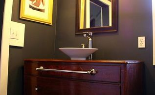 how to turn a buffet into a bathroom vanity, bathroom ideas, diy, how to, painted furniture, repurposing upcycling