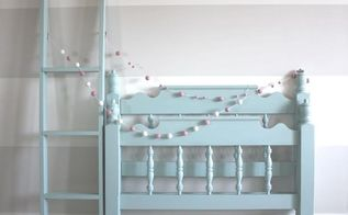 beautiful blue bunk beds, bedroom ideas, diy, painted furniture, repurposing upcycling