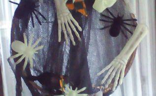 glow in the dark door wreath for halloween, crafts, doors, halloween decorations, seasonal holiday decor, wreaths