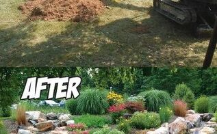 dual stream pondless waterfall before after, landscape, outdoor living, ponds water features