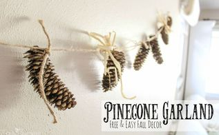 pinecone garlands so easy and so beautiful video tutorial, crafts, halloween decorations, seasonal holiday decor