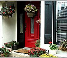 my painted front door, curb appeal, doors, painting