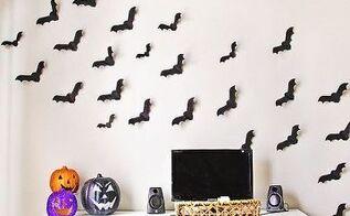 halloween decor bats in the house, crafts, halloween decorations, home decor, seasonal holiday decor