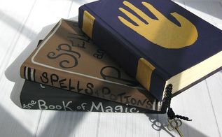 recycled book halloween decorations, crafts, halloween decorations, seasonal holiday decor