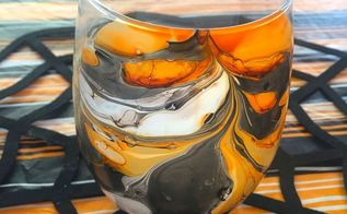 marbled candle votive, crafts