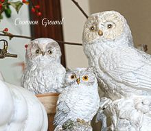 snow owls on the mantel, chalk paint, crafts, fireplaces mantels, seasonal holiday decor, Snow Owls