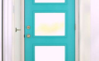 a mid century inspired aqua front door, doors, home decor, paint colors