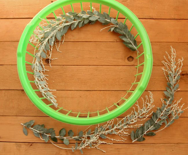 Basket Making Supplies San Diego : Dollar store hack laundry basket into wreath makers