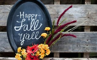 fall chalkboard decor using dollar store supplies, chalkboard paint, crafts, seasonal holiday decor